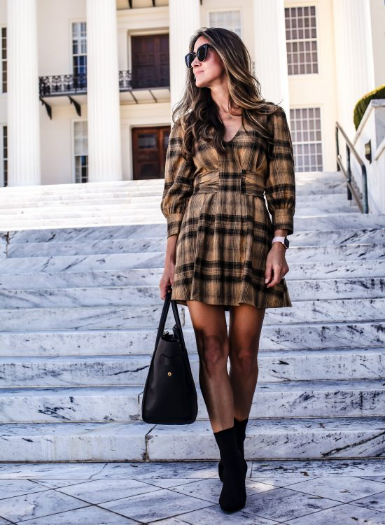 free people plaid dress