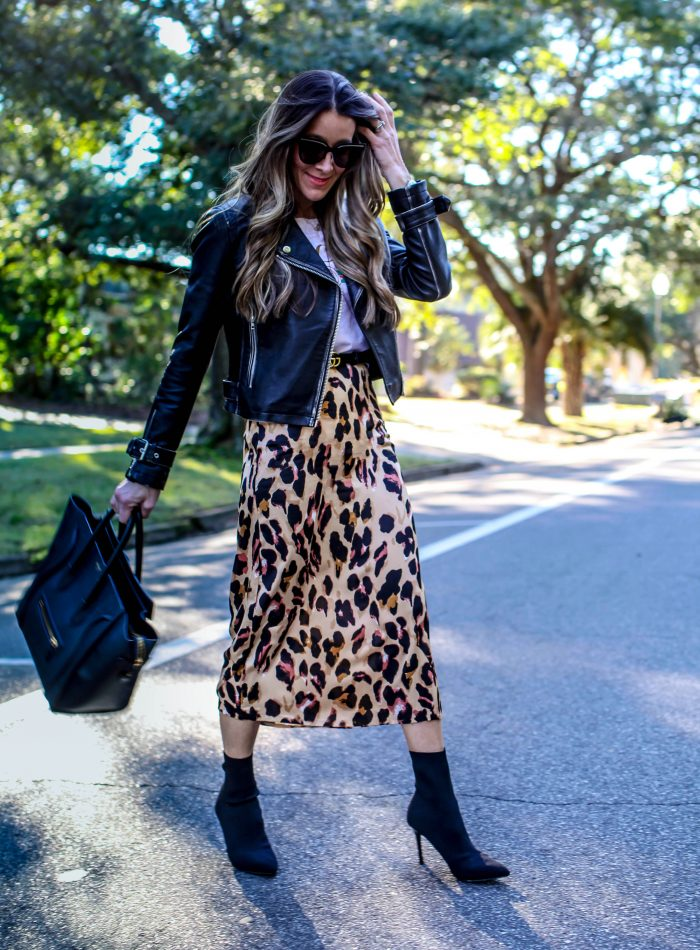 amazon leopard skirt find