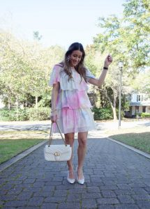 English factory tie dye ruffle