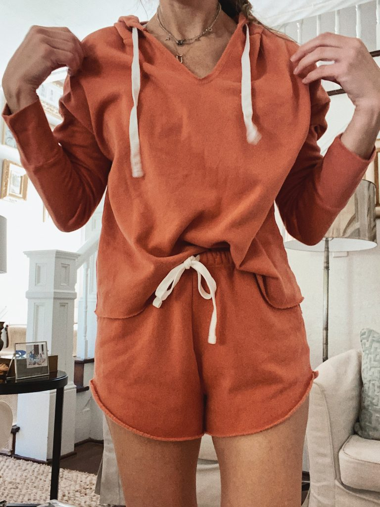 colsie lounge hoodie and lounge short