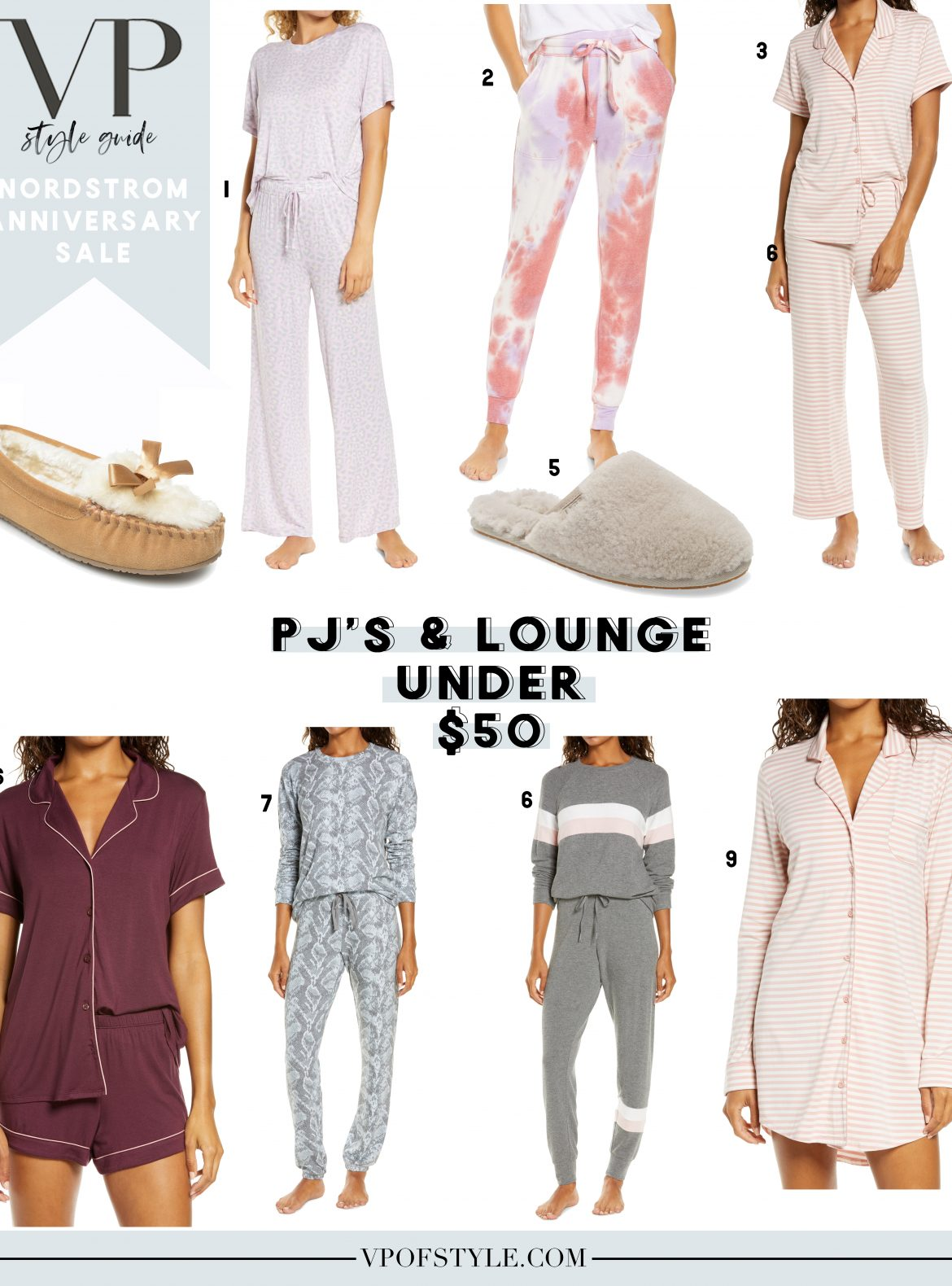 Nordstrom Anniversary Sale what to buy pajamas and lounge under $50