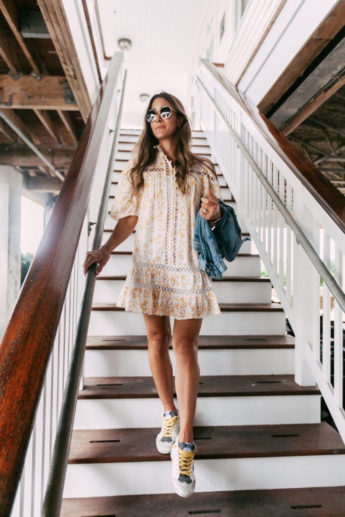 how to wear spring dress in fall