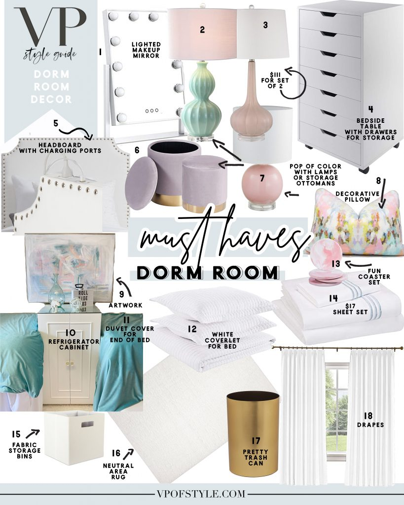 DORM ROOM DECOR MUST HAVES