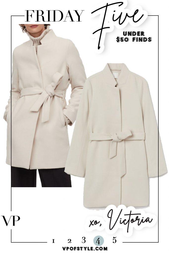 hm $49 tie coat