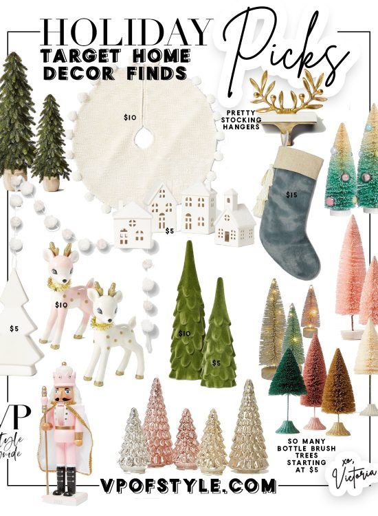 target holiday home decor items
