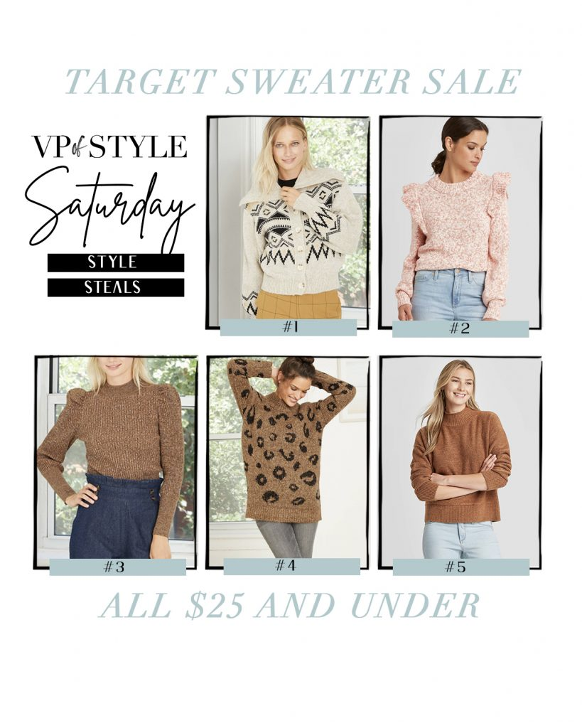 target sale sweaters