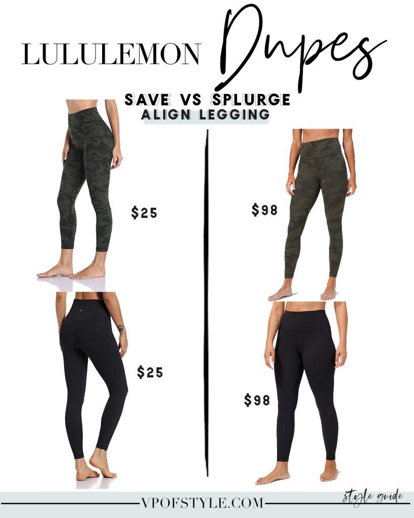 lululemon align leggings dupes