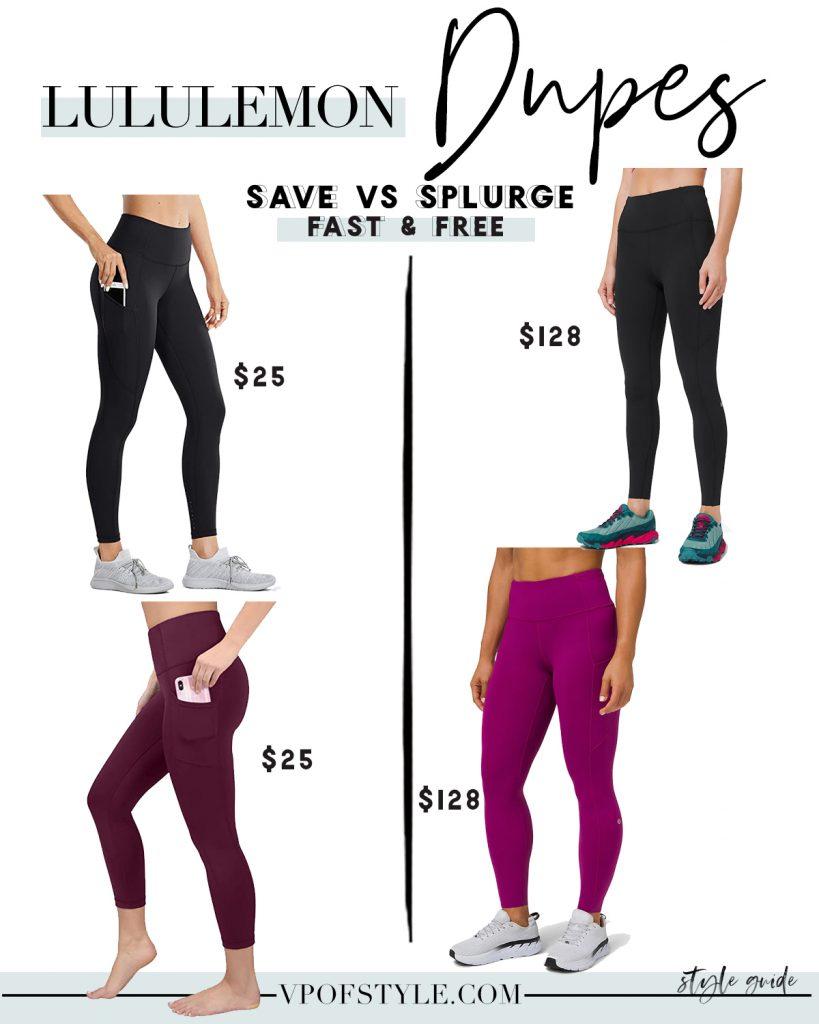 Lululemon Fast and free legging dupes