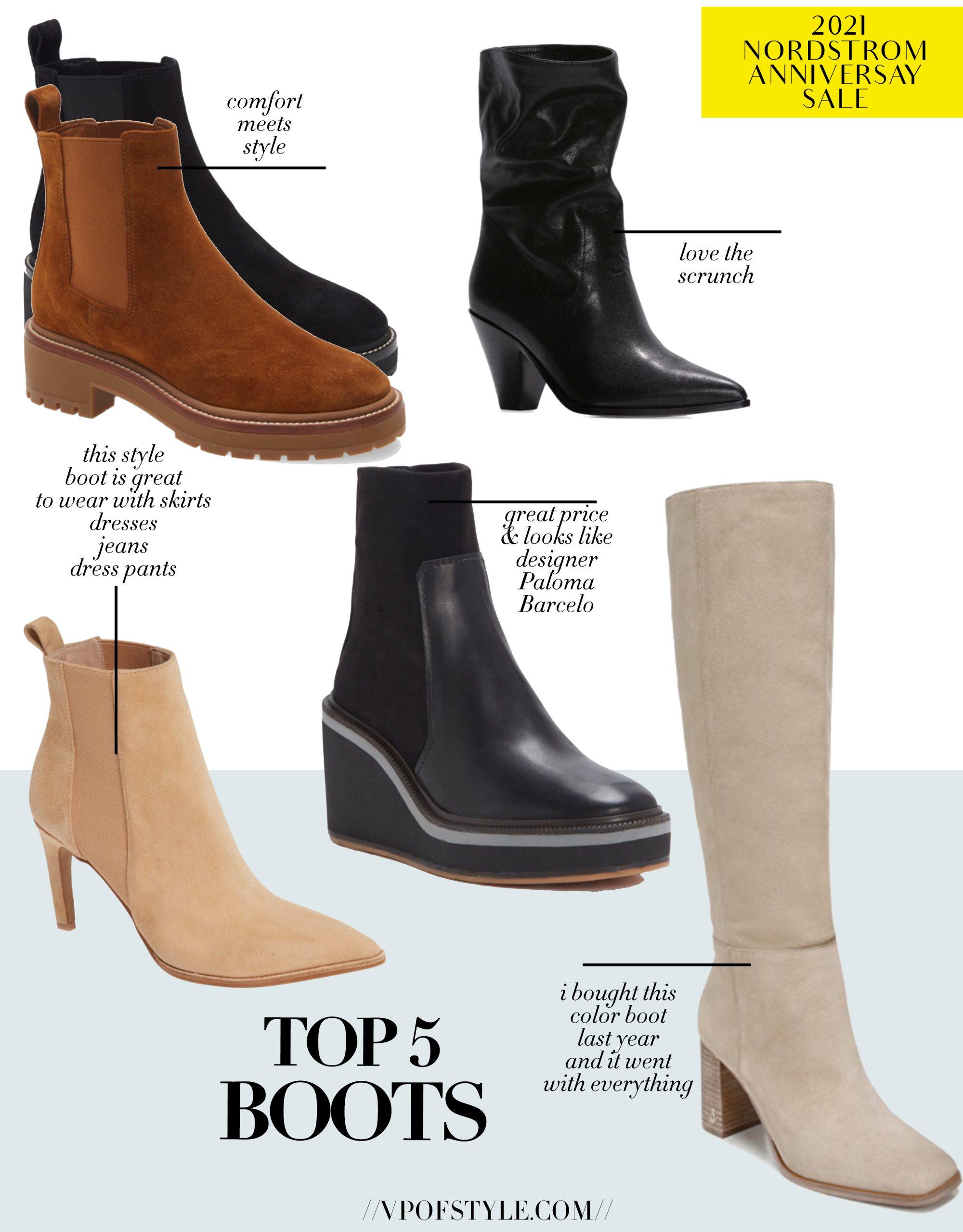 top 5 boot picks Nordstrom Anniversary Sale
