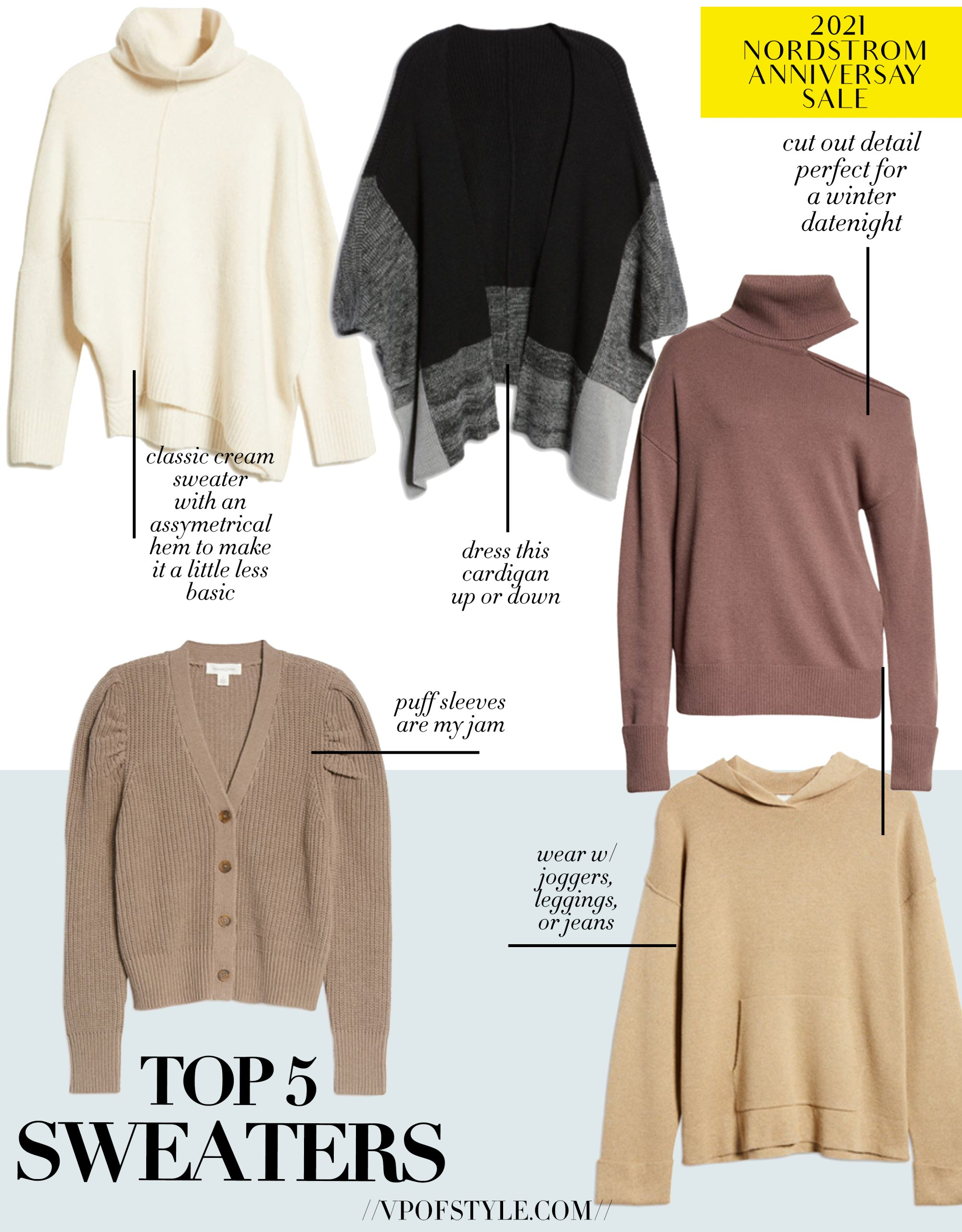 top 5 sweater picks from the Nordstrom Anniversary Sale